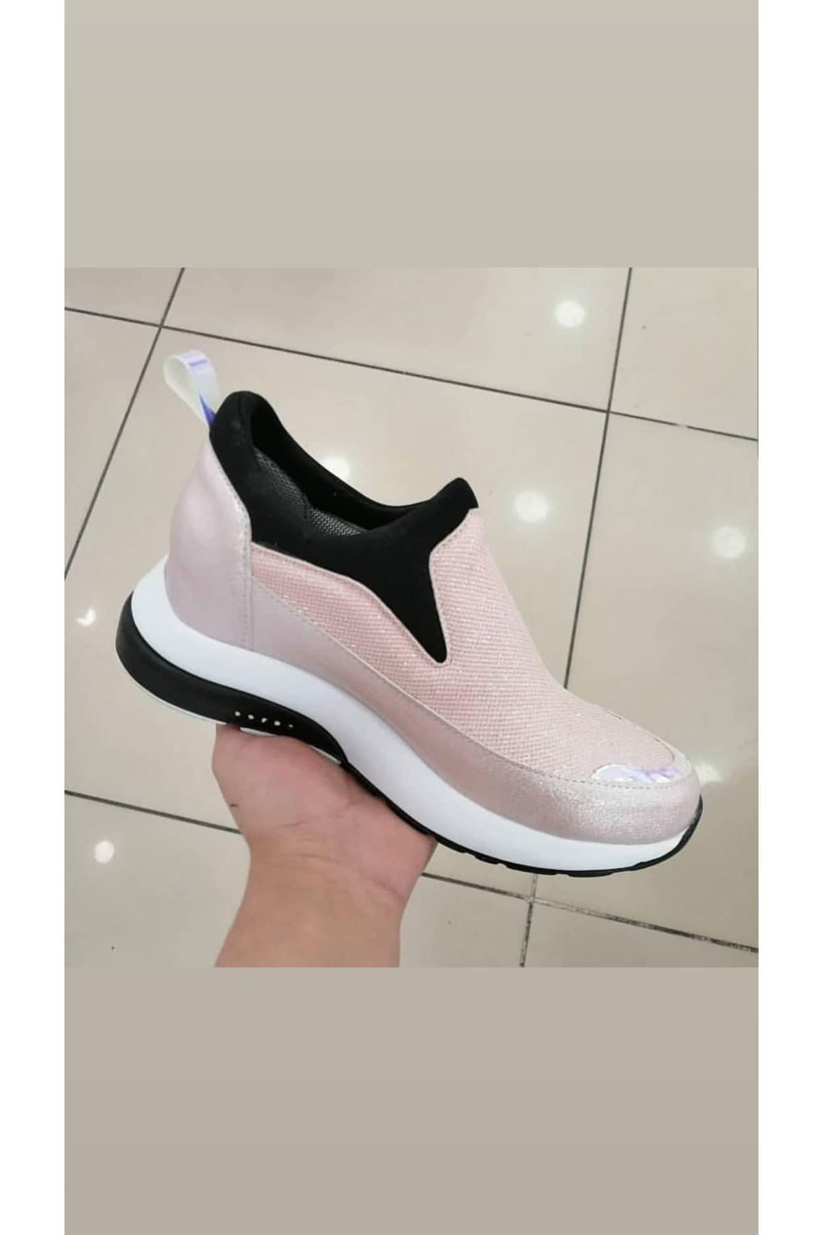 Kamuflaj Rugan Kadın Sneakers Pudra