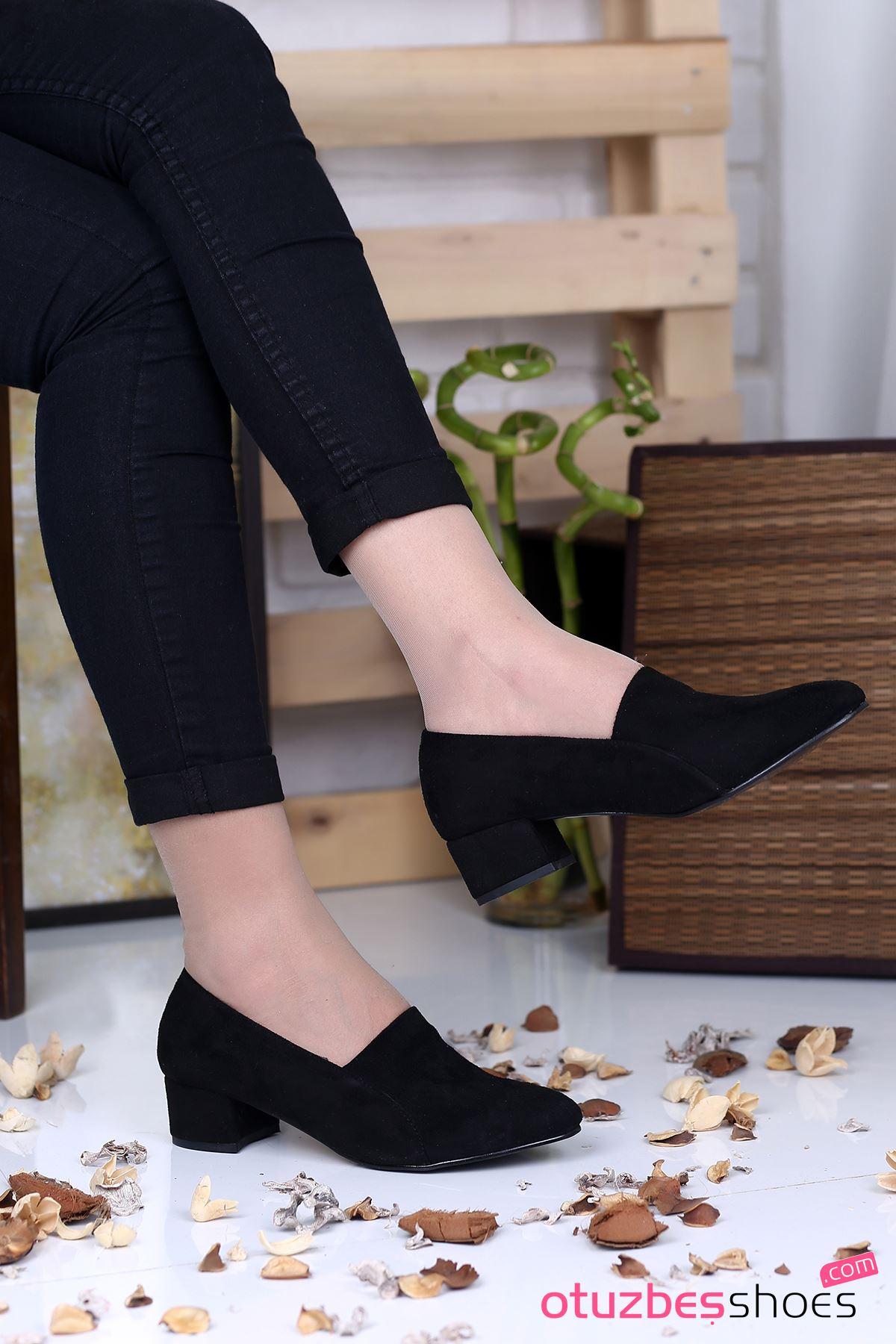 Karina Süet Topuklu Bayan Ayakkabı