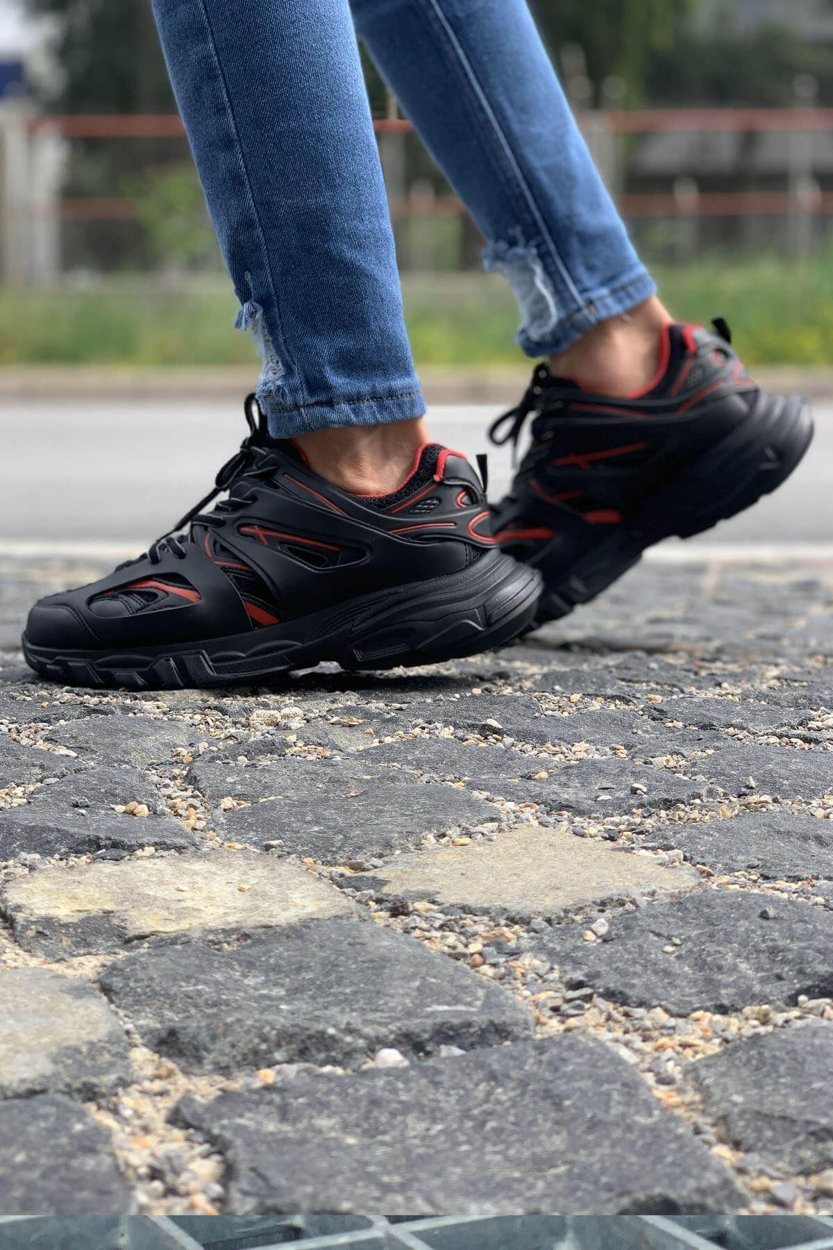 Chekich CH301 ST Erkek Ayakkabı SİYAH - KIRMIZI