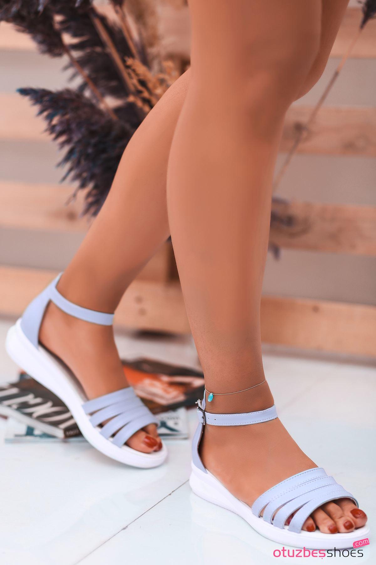 Adele Bebek Mavi Kadın  Sandalet