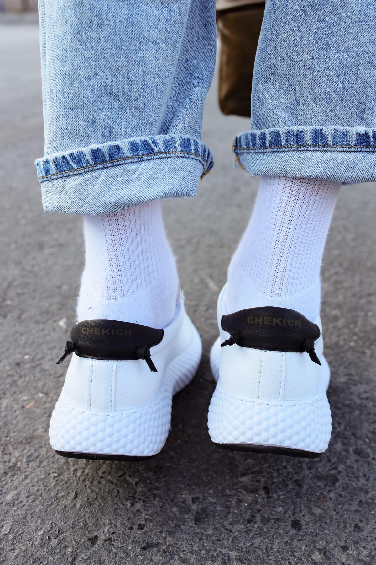 Chekich CH107 GBT Erkek Ayakkabı BEYAZ / SİYAH