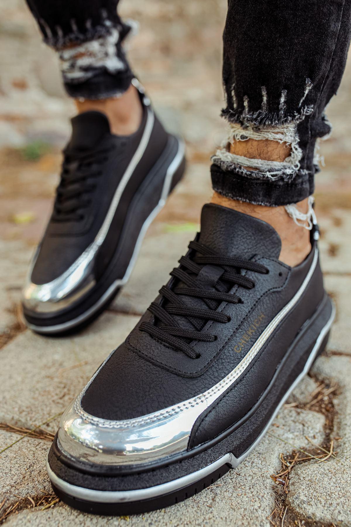 Chekich CH041 ST Erkek Ayakkabı SİYAH / GÜMÜS