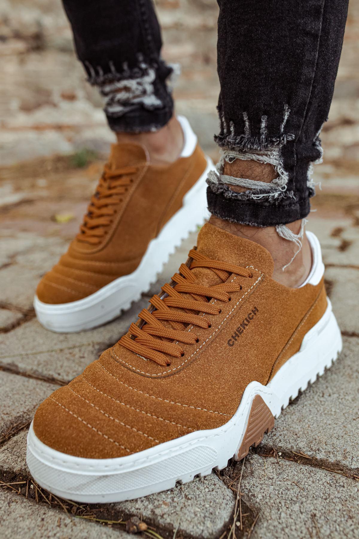 Chekich CH037SBT Erkek Ayakkabı TABA / BEYAZ