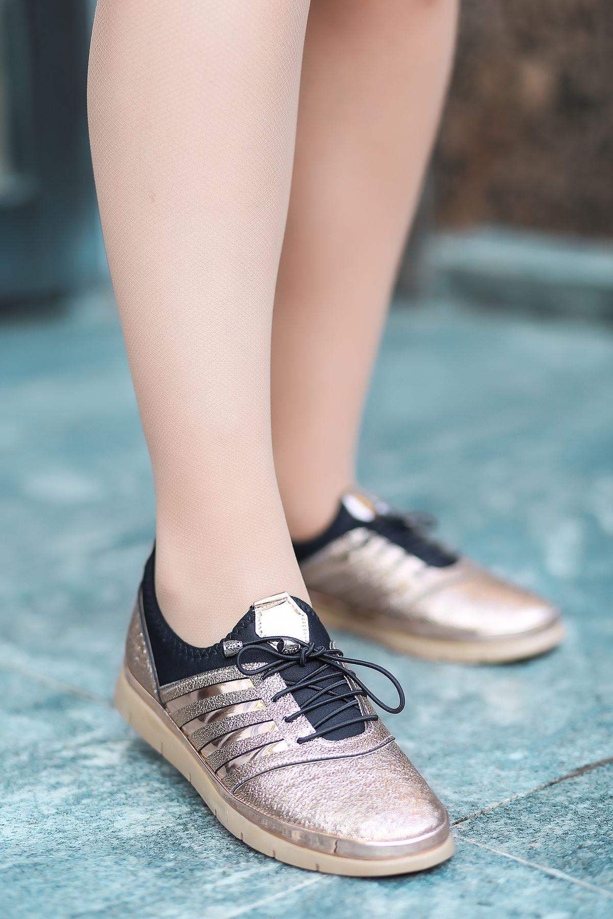 Miss Liva Bağcık Detaylı Bakır Kadın Spor Ayakkabı