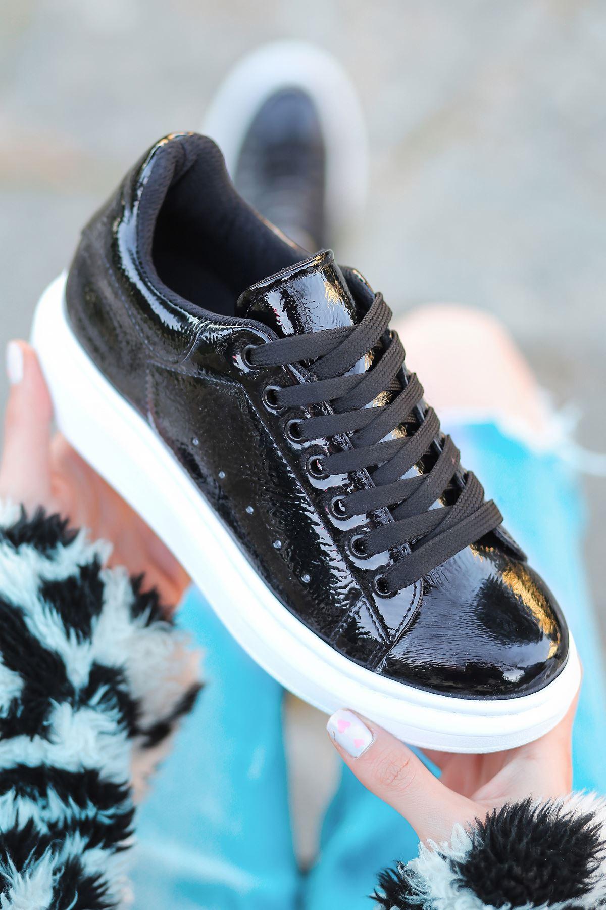 RMS Rugan Sneakers Günlük Spor Ayakkabı Siyah