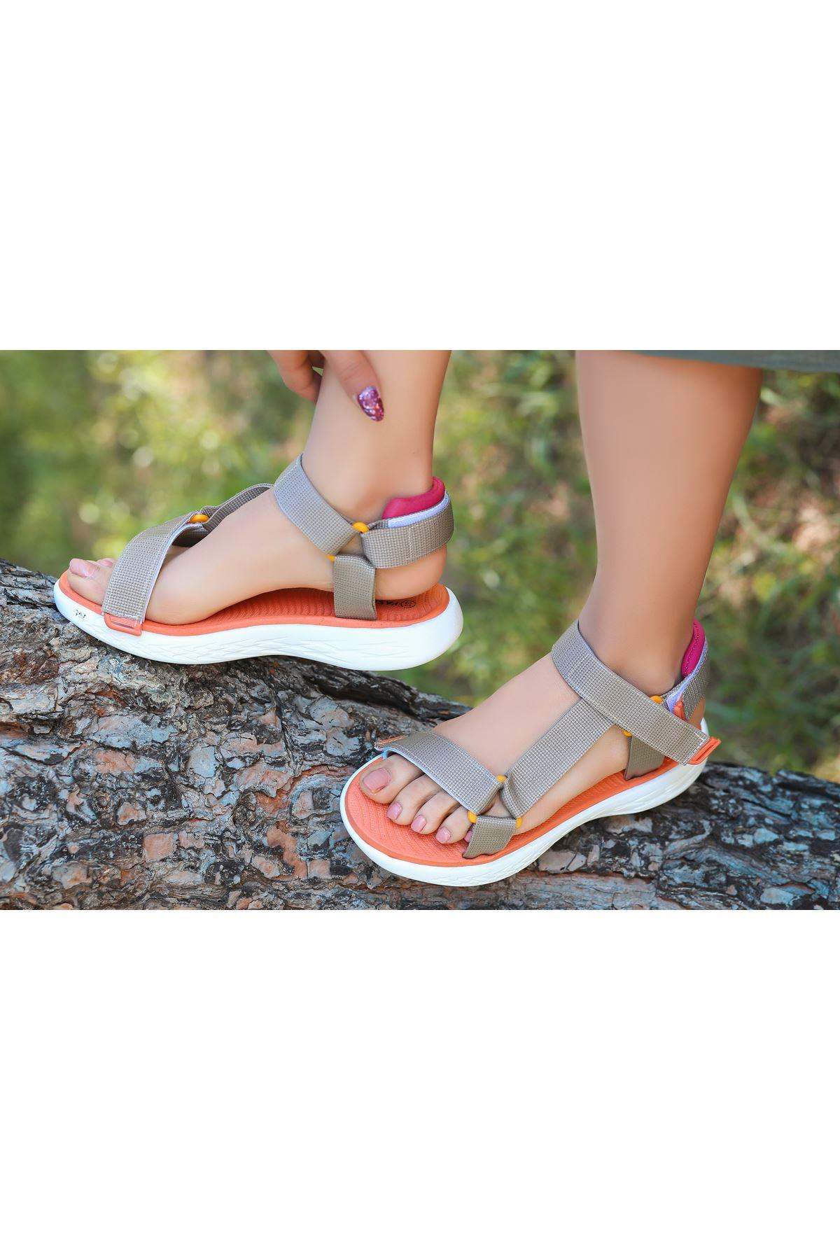 King Vizon Cırtlı Kadın Sandalet