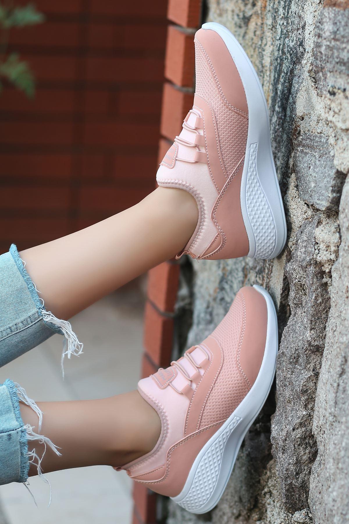 Armenno File Detay Pudra Kadın Spor Ayakkabı