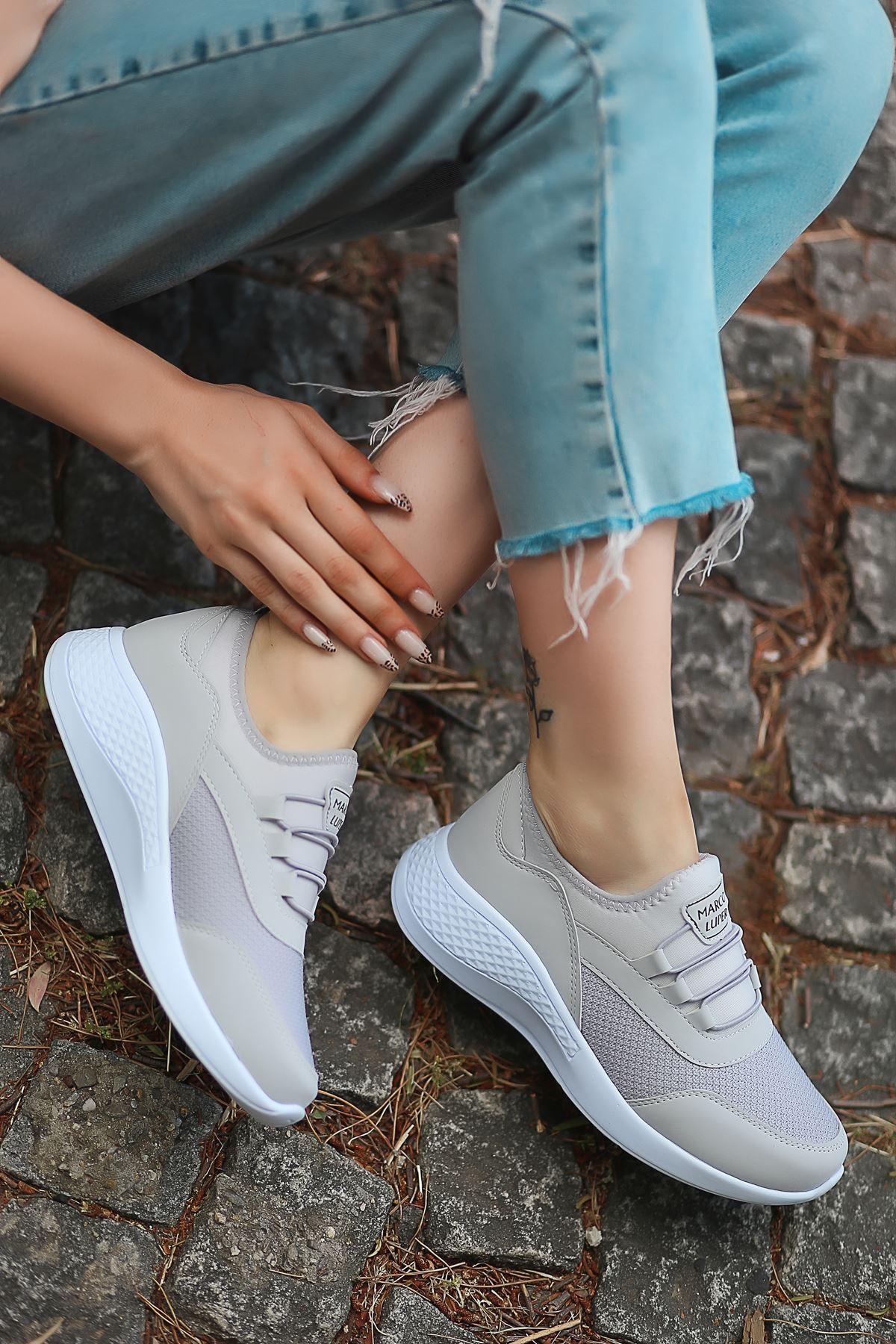Armenno File Detay Gri Kadın Spor Ayakkabı
