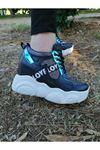 Vena Bağcık Detaylı Yüksek Topuklu Platin Kadın Spor Ayakkabı