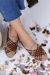 Jane Hasır Çapraz Detay Günlük Ayakkabı Taba