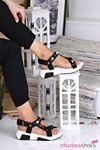 Rüya Taş Detay Kadın Sandalet Siyah