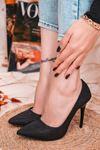 Ruha Yüksek Topuklu Siyah Kadın Stiletto