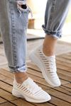 Like Triko File Detay Beyaz Spor Ayakkabı